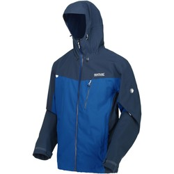 Clothing Men Jackets Regatta BIRCHDALE Waterproof Shell Jacket Blue