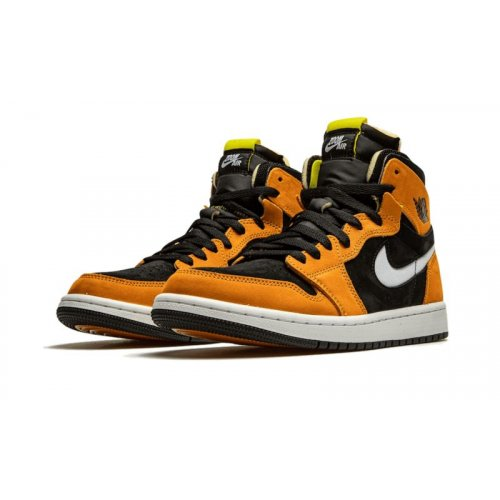 Shoes Hi top trainers Nike Air Jordan 1 High Zoom Cmft Black Wheat Black/White-Monarch-Opti Yellow