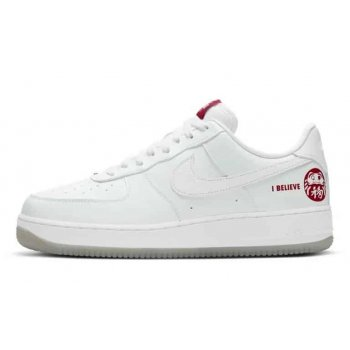 Shoes Low top trainers Nike Air Force 1 Low I Believe White/Bordeaux