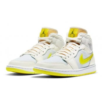Shoes Hi top trainers Nike Air Jordan 1 Mid Voltage Yellow Sail/Light Voltage Yellow II/White
