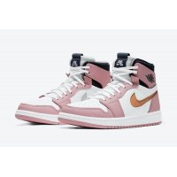 Shoes Hi top trainers Nike Air Jordan 1 Zoom Comfort Pink Glaze Pink Glaze/Cactus Flower-White-Sail