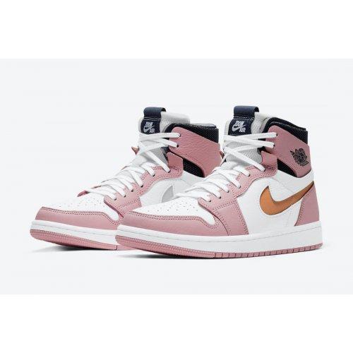 Shoes Hi top trainers Nike Air Jordan 1 Zoom Comfort Pink Glaze Pink Glaze/Cactus Flower-White-Sail