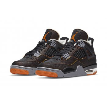 Shoes Hi top trainers Nike Air Jordan 4 Wmns Starfish Sail/Starfish-Light Smoke Grey-Black