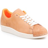 Shoes Men Low top trainers adidas Originals Adidas Superstar 80s Clean BA7767 brown, orange