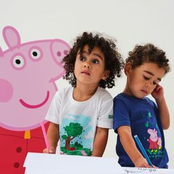 Clothing Children T-shirts & Polo shirts Regatta Peppa Pig TShirt White