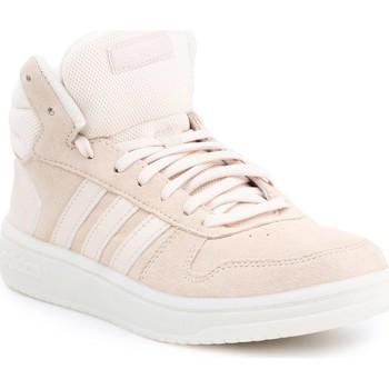 Shoes Women Hi top trainers adidas Originals Adidas Hoops 2.0 MID EE7894 beige