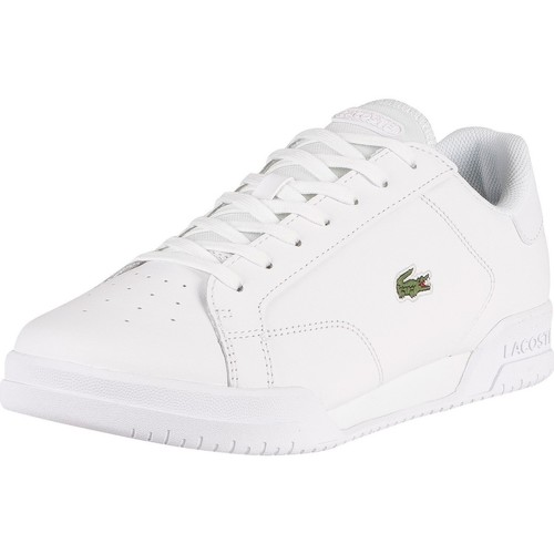 Shoes Men Low top trainers Lacoste Twin Serve 0721 2 SMA Leather Trainers white