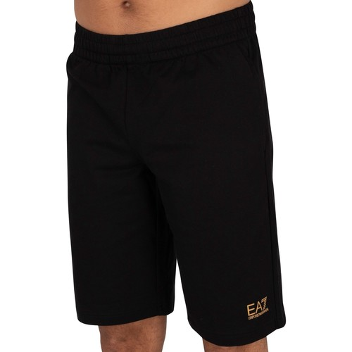 Clothing Men Shorts / Bermudas Emporio Armani EA7 Logo Sweat Shorts black