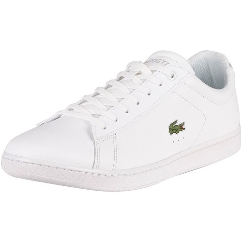 Shoes Men Trainers Lacoste Carnaby BL21 1 SMA Leather Trainers white