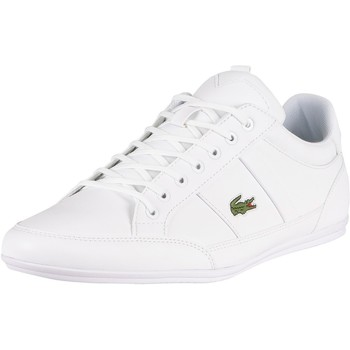 Shoes Men Fitness / Training Lacoste Chaymon BL21 1 CMA Synthetic Leather Trainers white