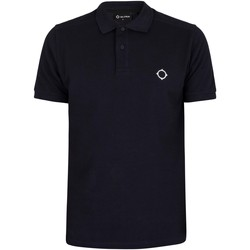 Clothing Men Short-sleeved polo shirts Ma.strum Pique Polo Shirt blue