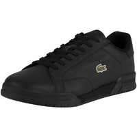 Shoes Men Fitness / Training Lacoste Twin Serve 0721 2 SMA Leather Trainers black