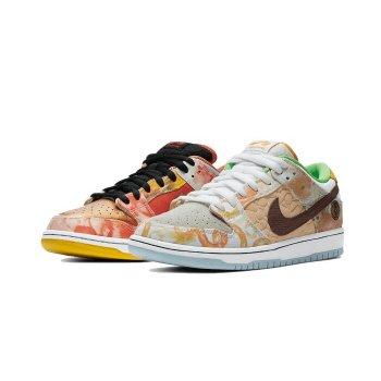 Shoes Low top trainers Nike SB Dunk Low Street Hawker Metallic Copper/Light Silver/Pueblo Brown/Metallic Silver