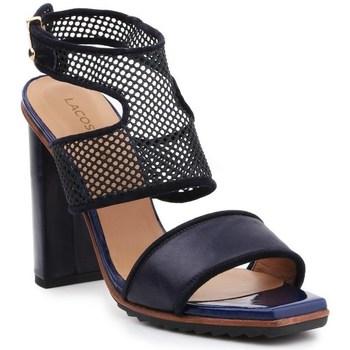 Shoes Women Sandals Lacoste Eliana 5 Srw Black, Navy blue