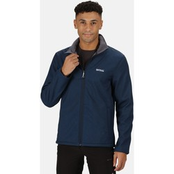 Clothing Men Track tops Regatta CERA V RATIO PK Softshell Navy Marl Blue Blue