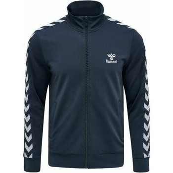 Clothing Men Track tops Hummel Veste Zip  Nathan 2.0 bleu marine/blanc