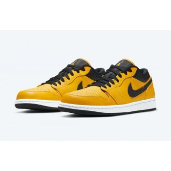 Shoes Low top trainers Nike Air Jordan 1 Low University Gold University Gold/Black-White