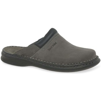 Shoes Men Slippers Josef Seibel Max Men&039;s Brown Leather Mules grey