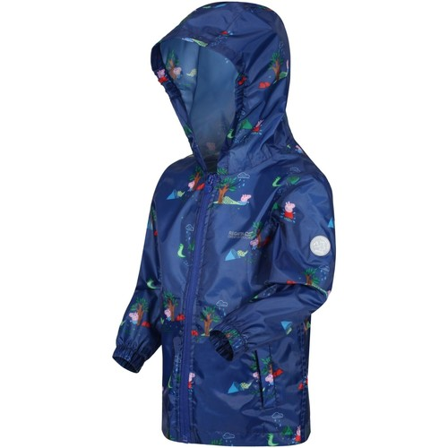 Clothing Children Jackets Regatta PEPPA PACK-IT Waterproof Shell Jacket New Royal Blue Blue