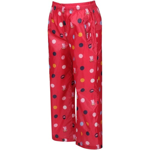 Clothing Children Trousers Regatta Peppa Pig PACK-IT Overtrousers Pink