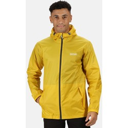 Clothing Men Parkas Regatta PACK-IT III Waterproof Shell Jacket Oxford Blue Yellow Yellow