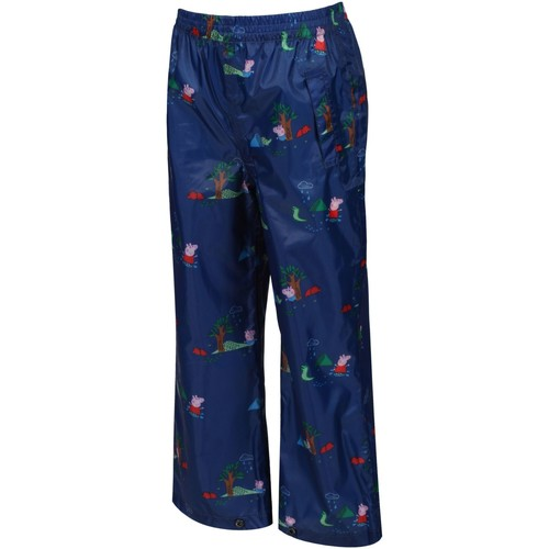 Clothing Children Trousers Regatta Peppa Pig PACK-IT Overtrousers Blue