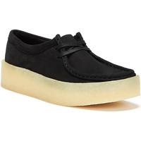 Shoes Women Loafers Clarks Wallabee Cup Nubuck Womens Black Shoes Black