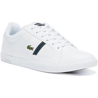 Shoes Men Fitness / Training Lacoste Europa 120 1 Mens White / Green Trainers White