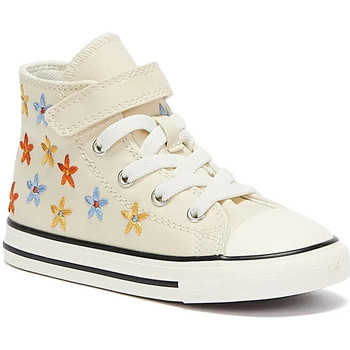 Children's Footwear Converse  All Star Spring Flowers Hi Infants Ivory Trainers  girls's Children's Shoes (High-top Trainers) in multicolour