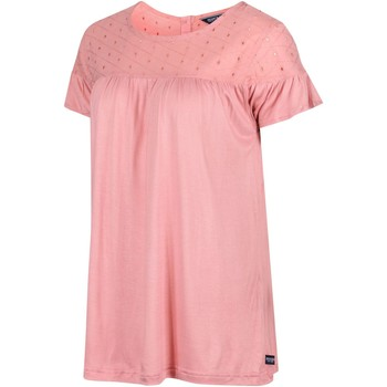 Clothing Women Short-sleeved t-shirts Regatta ABITHA TShirt Navy Pink Pink