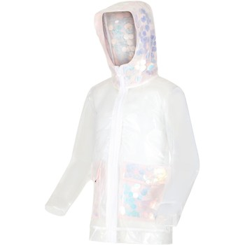 Clothing Children Jackets Regatta HALLOW Transparent Jacket Ice Green Transparent Transparent