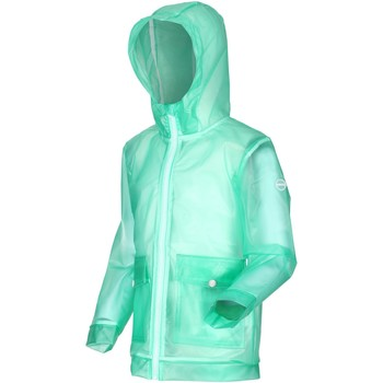 Clothing Children Jackets Regatta HALLOW Transparent Jacket Ice Green Green Green