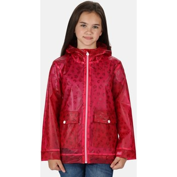 Clothing Children Jackets Regatta HALLOW Transparent Jacket Ice Green Pink Pink