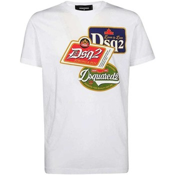 Clothing Men Short-sleeved t-shirts Dsquared S74GD0581S21600_100white white