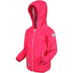 Clothing Children Jackets Regatta Peppa Pig Reflective Active Waterproof Hooded Jacket Pink Pink