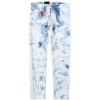 Clothing Men Slim jeans Dsquared S74LB0485S30342_470stonewash blue
