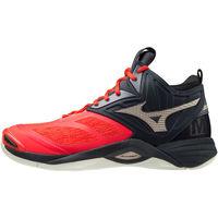 Shoes Men Multisport shoes Mizuno Chaussures  Wave Momentum 2 Mid rouge/or/noir