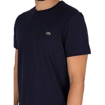 Clothing Men Short-sleeved t-shirts Lacoste Croc T-Shirt blue