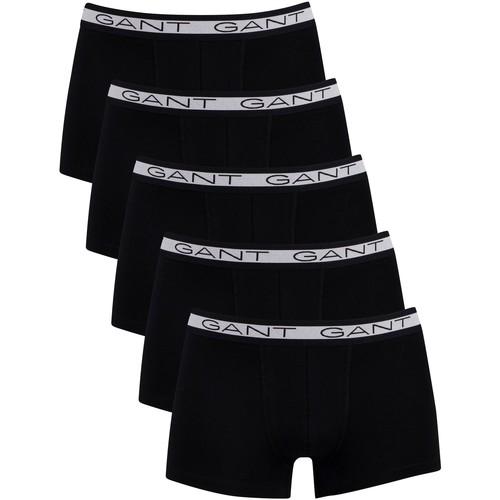 Underwear Men Boxer shorts Gant 5 Pack Basic Trunks black