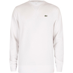 Clothing Men Sweaters Lacoste Sport Cotton Blend Fleece Sweatshirt white
