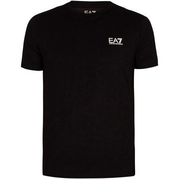 Clothing Men T-shirts & Polo shirts Emporio Armani EA7 Chest Logo T-Shirt black