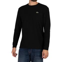 Clothing Men Long sleeved tee-shirts Lacoste Sport Longsleeved Croc T-Shirt black