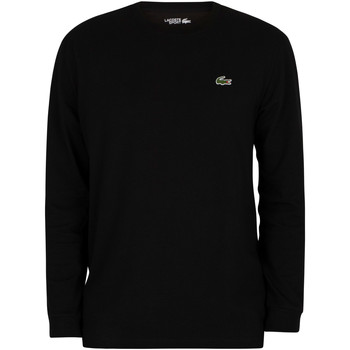Clothing Men Long sleeved tee-shirts Lacoste Sport Longsleeved Croc T-Shirt black