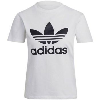 Clothing Women Short-sleeved t-shirts adidas Originals Trefoil Tee White