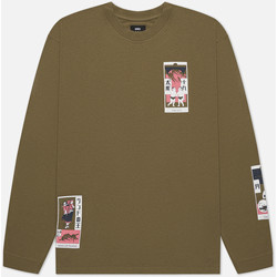Clothing Men T-shirts & Polo shirts Edwin T-shirt manches longues  Tarot Deck II vert olive