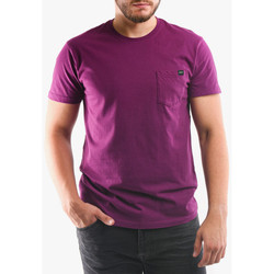 Clothing Men T-shirts & Polo shirts Edwin T-shirt avec poche violet
