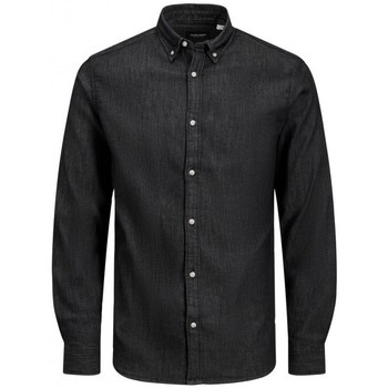 Clothing Men Long-sleeved shirts Jack & Jones JJILEON 12165012 Black