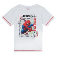 Clothing Boy Short-sleeved t-shirts TEAM HEROES  SPIDERMAN TEE White
