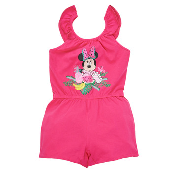 Clothing Girl Jumpsuits / Dungarees TEAM HEROES  MINNIE JUMPSUIT Pink