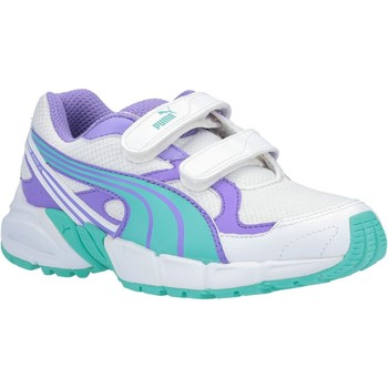 Shoes Boy Low top trainers Puma Axis Mesh V2 Trainers Lime and Blue and White